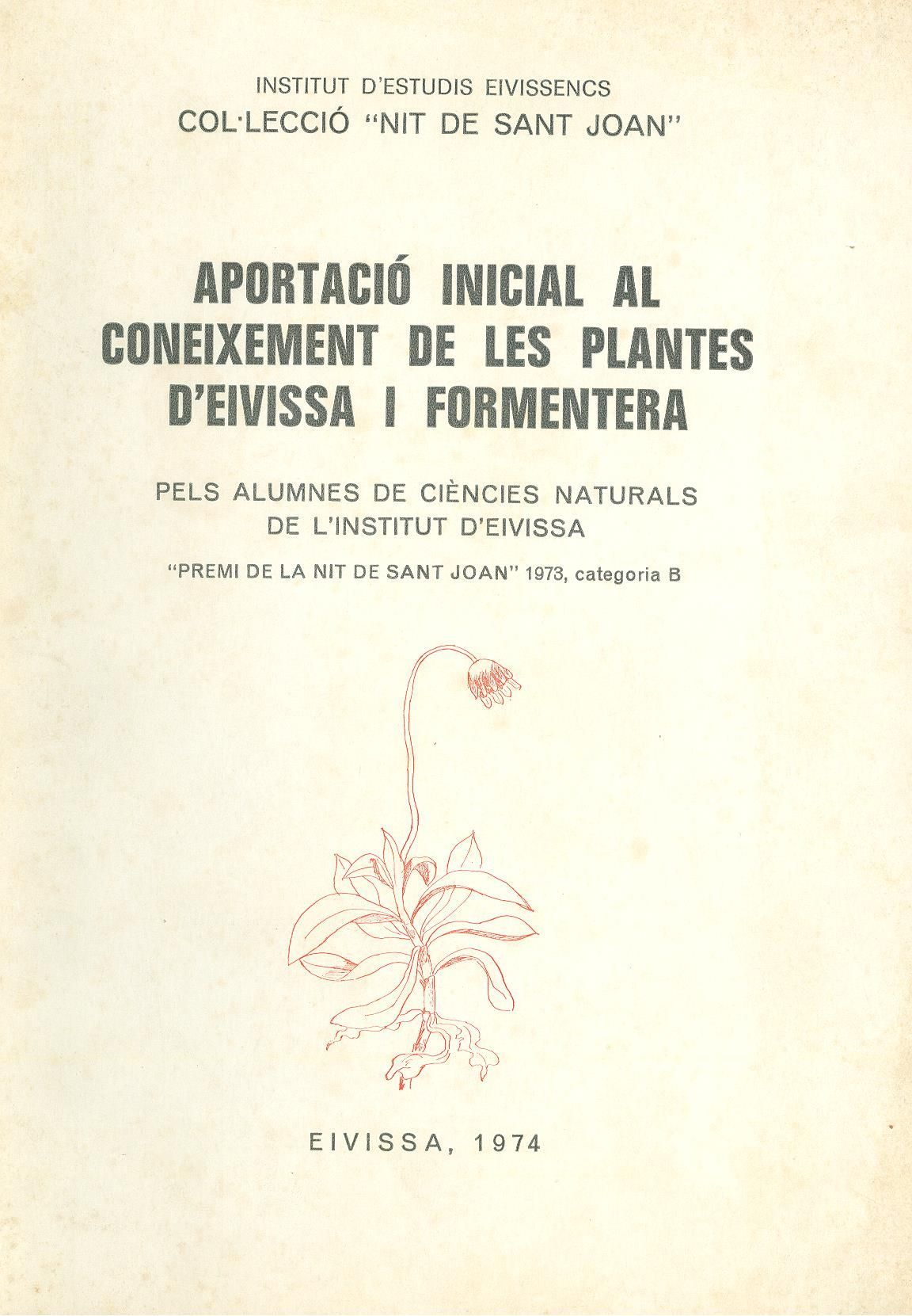 Aportació inicial al coneixement de les plantes d'Eivissa i Formentera