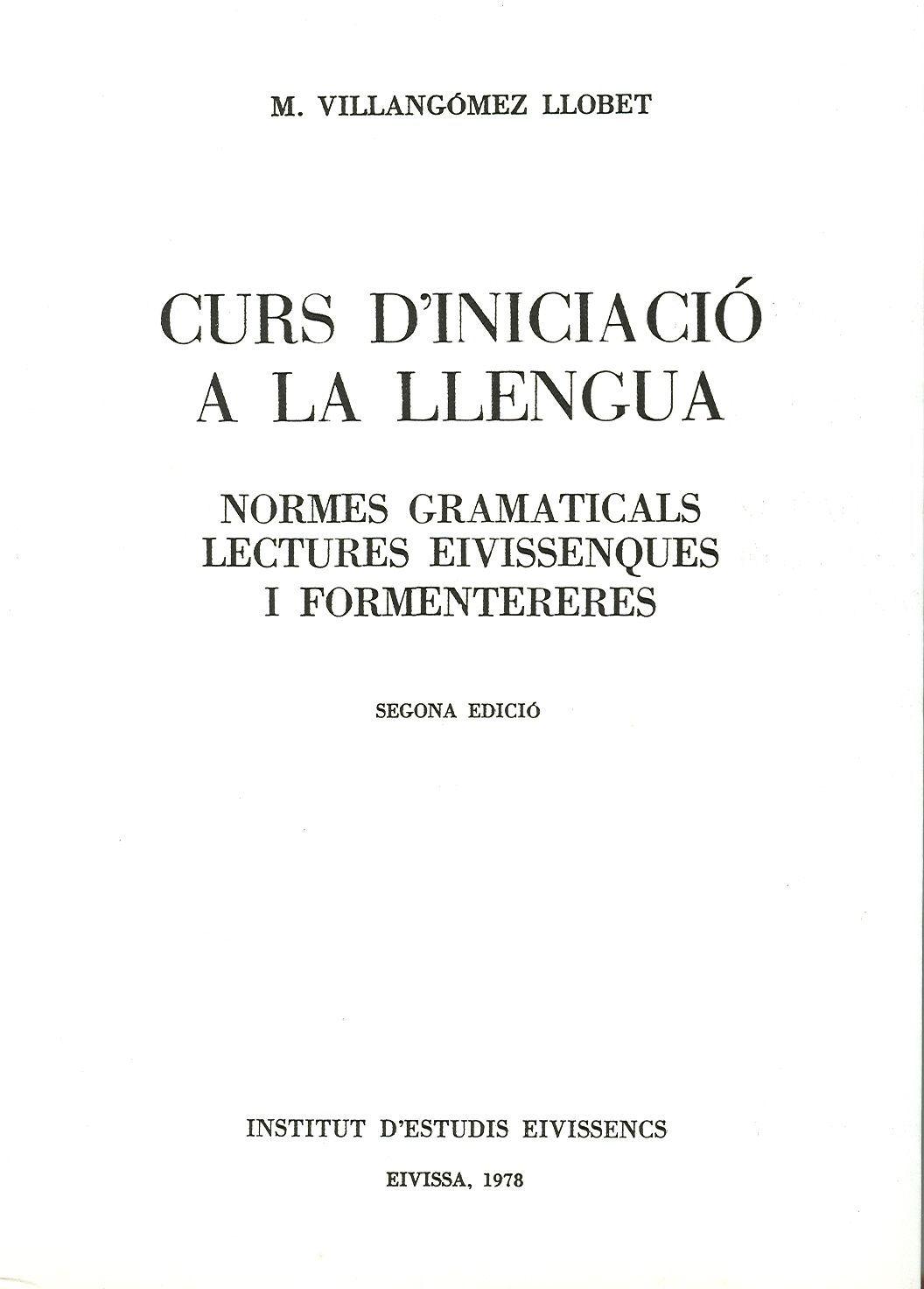 Curs d'iniciació a la llengua
