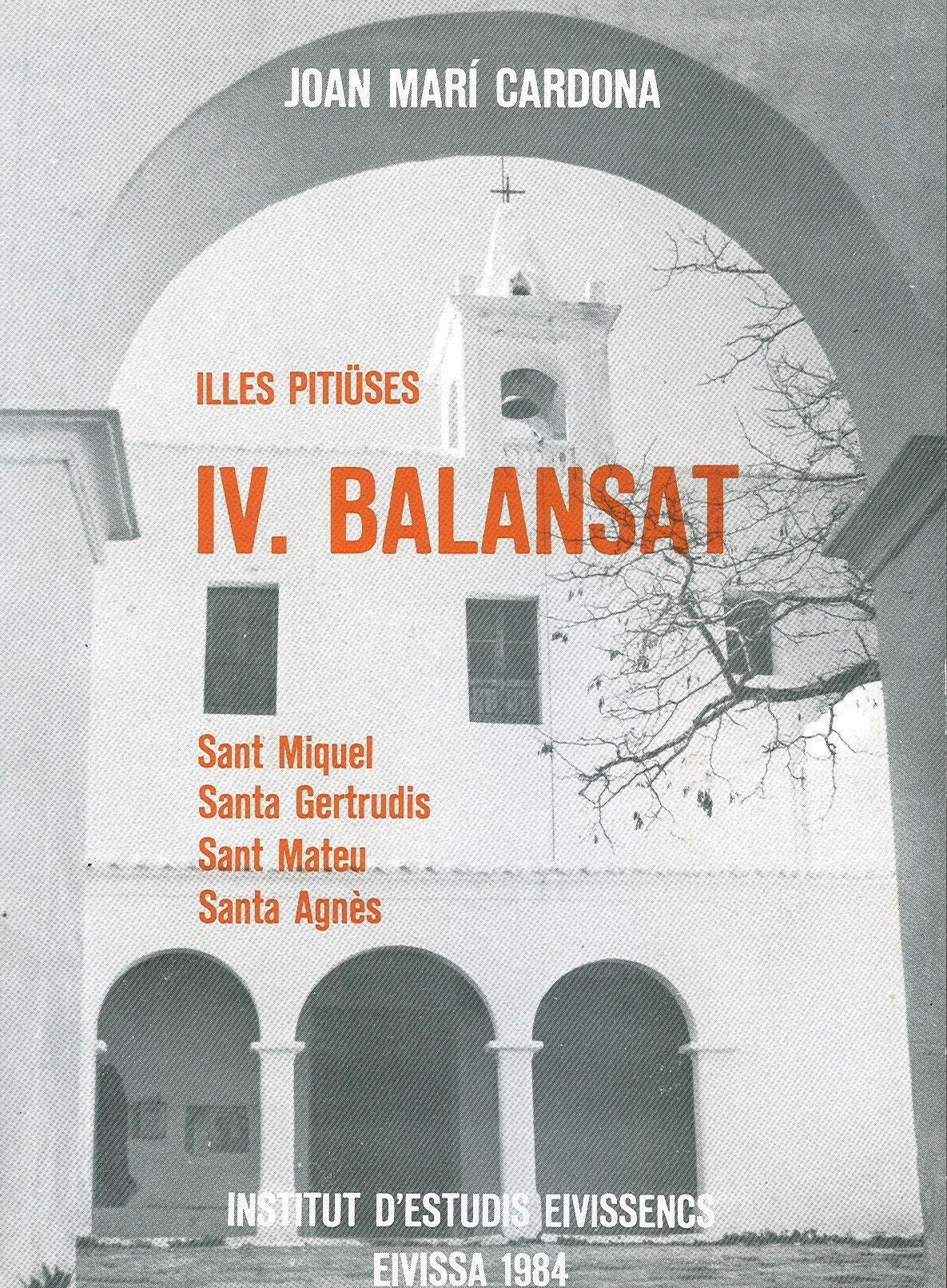Portada Illes Pitiüses IV. Balansat