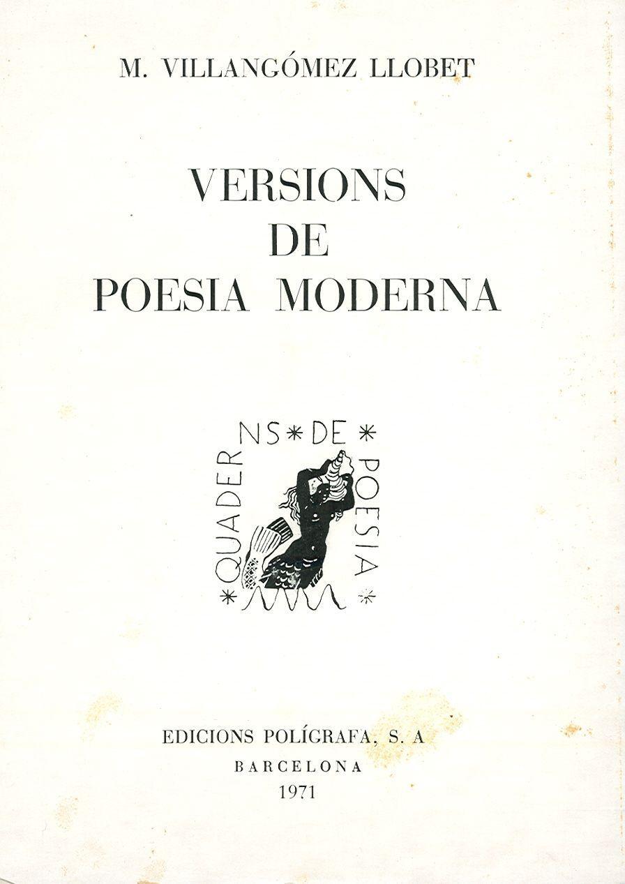 Versions de poesia moderna