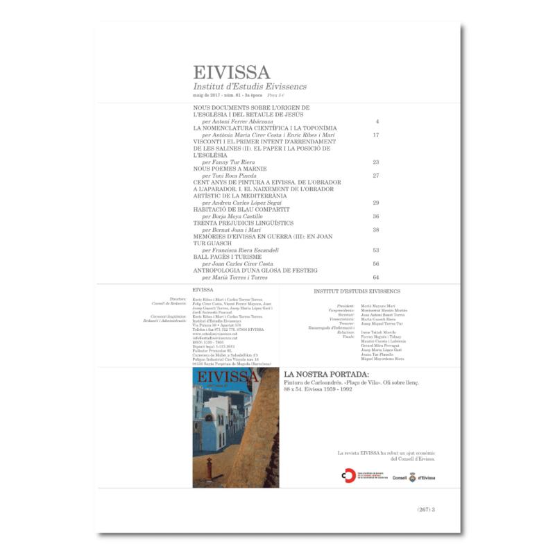 Revista Eivissa 61-índex
