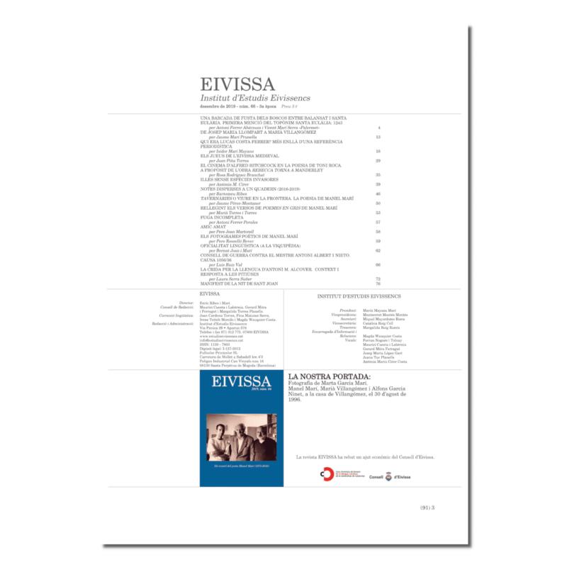 Revista Eivissa 66-índex
