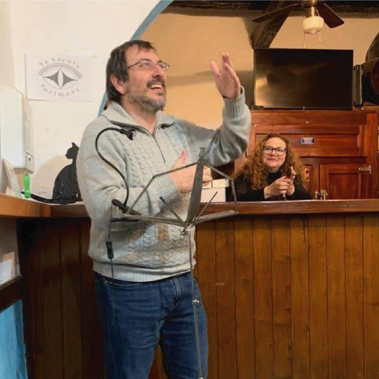 Nit de poesia, recital a Sant Antoni de Portmany (gener 2020)